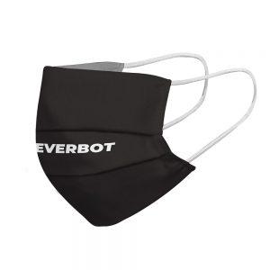 """Mundmaske von Shirtinator mit dem Design """"Redeverbot"""" in Seitenansicht"""