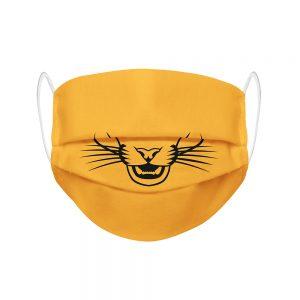 """Mundmaske von Shirtinator mit dem Design """"Raubkatze"""" in Frontansicht"""