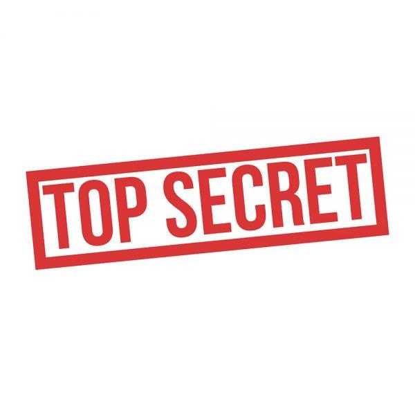 """Mundmaske von Shirtinator mit dem Design """"Top Secret"""""""