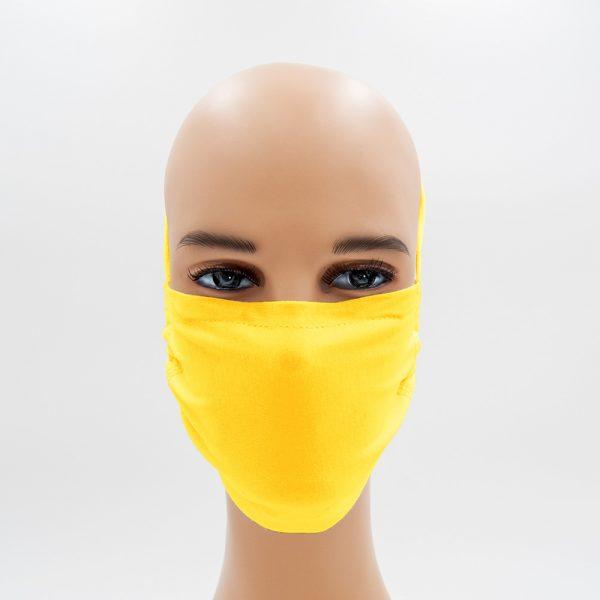 Shirtinator Maske aus Baumwolle in gelb