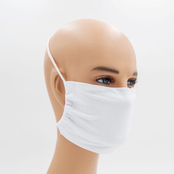 Shirtinator Maske aus Baumwolle in weiß