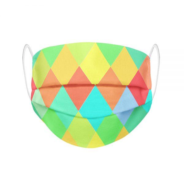 """Mundmaske von Shirtinator mit dem Design """"Rauten"""" in Frontansicht"""