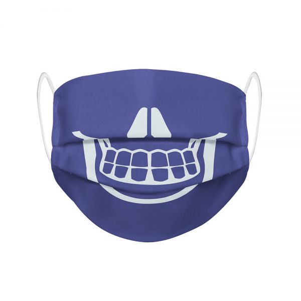 """Mundmaske von Shirtinator mit dem Design """"Skull Smile"""" in Frontansicht"""