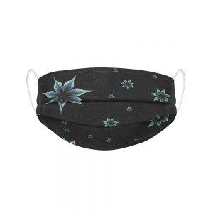 """Mundmaske von Shirtinator mit dem Design """"Flowers"""" in Frontansicht"""
