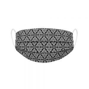 """Mundmaske von Shirtinator mit dem Design """"Design Lines"""" in Frontansicht"""