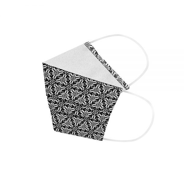 """Mundmaske von Shirtinator mit dem Design """"Design Lines"""" in Seitenansicht"""