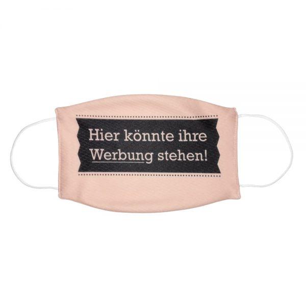 """Mundmaske von Shirtinator mit dem Design """"Ihre Werbung"""" in Frontansicht"""