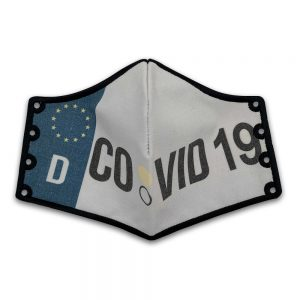 Subli Mask Covid 19 Kennzeichen front